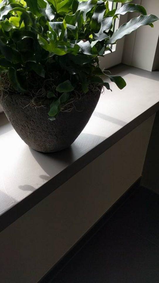 vensterbank betonlook kast